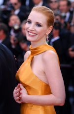 JESSICA CHASTAIN at Anniversary Soiree at 70th Annual Cannes Film Festival 05/23/2017