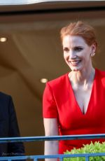 JESSICA CHASTAIN at Jury Dinner at 70th Annual Cannes Film Festival 05/16/2017