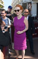 JESSICA CHASTAIN Leaves Martinez Hotel in Cannes 05/21/2017