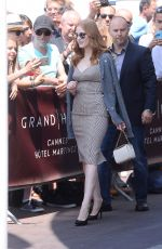 JESSICA CHASTAIN Leaves Martinez Hotel in Cannes 05/26/2017