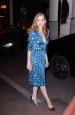 JESSICA CHASTAIN Night Out in Cannes 05/22/2017