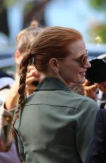 JESSICA CHASTAIN Out and About in Cannes 05/25/2017