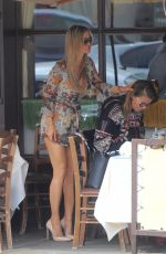 JOANNA KRUPA with Friends at Il Pastaio in Beverly Hills 05/08/2017