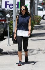 JORDANA BREWSTER in Leggings Out in Beverly Hills 05/01/2017