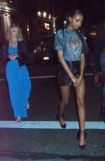 JOURDAN DUNN Arrives at 1 OAK Night Club in New York 05/05/2017