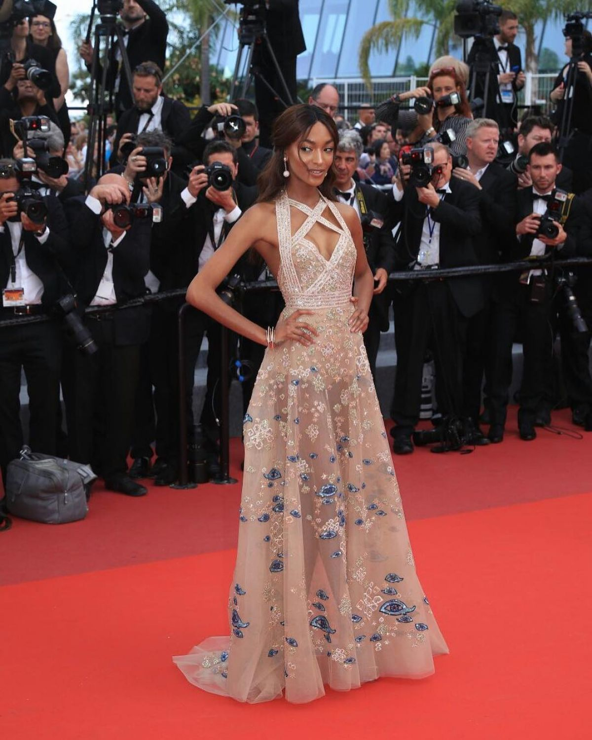 JOURDAN DUNN at The Killing of a Sacred Deer Premiere at 70th Annual Cannes Film Festival 05/22/2017