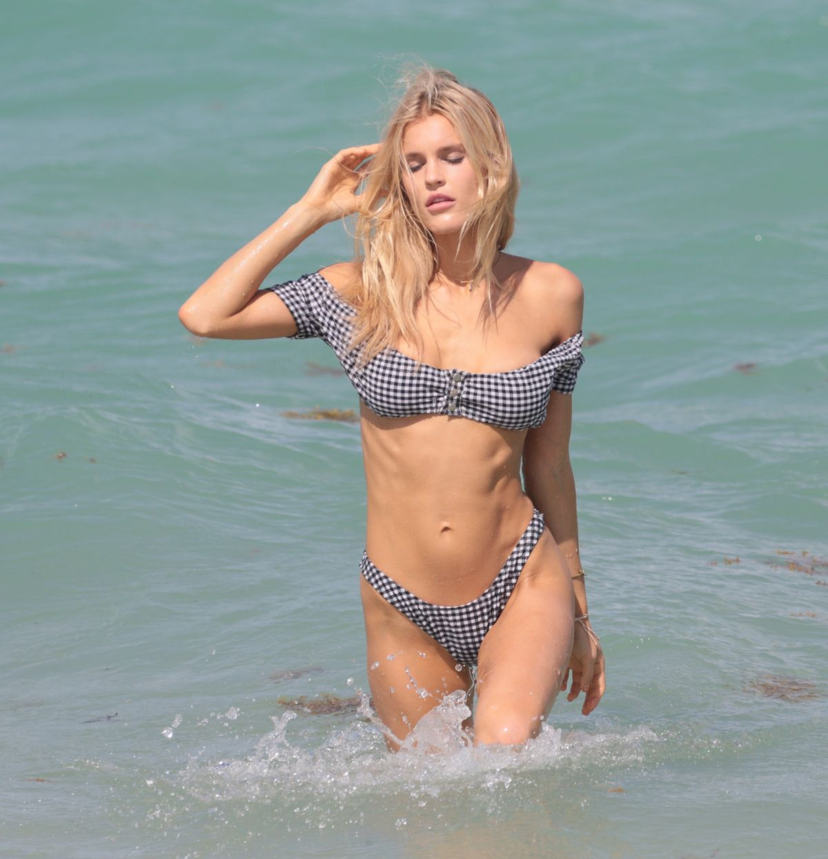 JOY CORRIGAN in Bikini at a Beach in Miami 04/30/2017