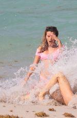 JOY CORRIGAN in Bikini at a Beach in Miami 04/30/2017