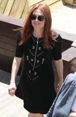 JULIANNE MOORE Out at Croisette at 70th Cannes Film Festival 05/17/2017