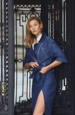 KARLIE KLOSS Hails a Cab Out in New York 05/01/2017