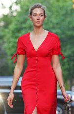 KARLIE KLOSS in Red Dress Out in New York 05/17/2017