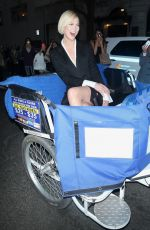 KARLIE KLOSS on Her Way to MET Gala on a Bike Taxi 05/01/2017