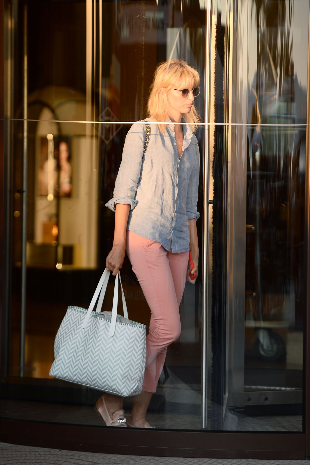 KAROLINA KURKOVA Leaves Martinez Hotel in Cannes 05/27/2017