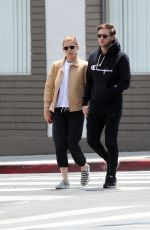 KATE MARA and Jamie Bell Out for Lunch in Los Feliz 05/15/2017