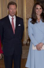 KATE MIDDLETON at Grand Ducal Palace in Luxembourg 05/11/2017