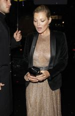 KATE MOSS Leaves Ara Vartanian x Kate Moss Launch Party in London 05/17/2017