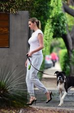 KATE UPTON Out Walks Her Dog in Los Angeles 05/13/2017