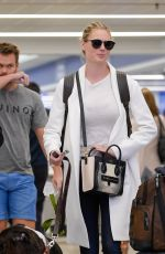 KATE UPTON with Her Dog at LAX Airport in Los Angeles 05/16/2017