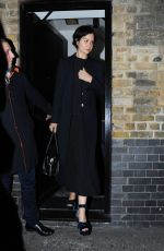 KATHERINE WATERSTON Leaves Chiltern Firehouse in London 05/08/2017