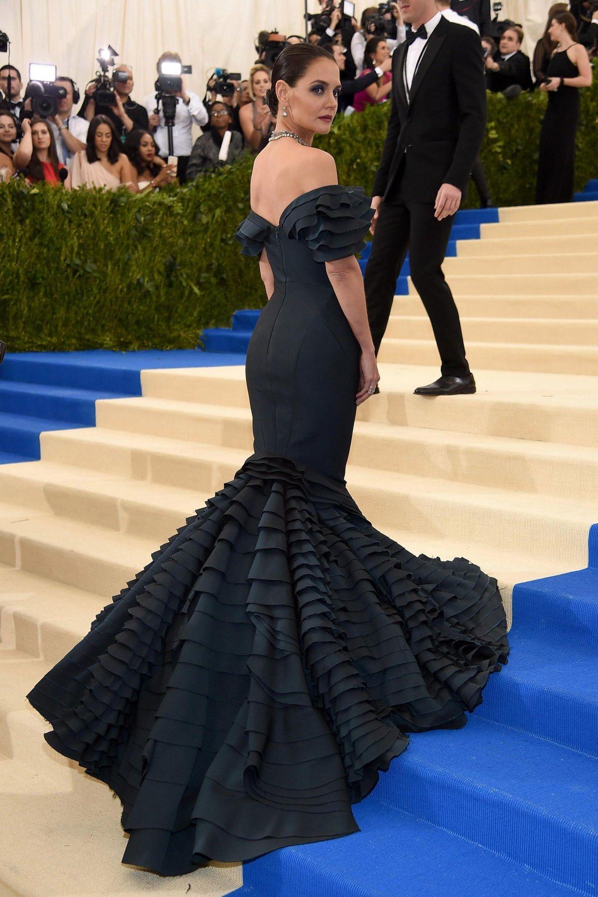 KATIE HOLMES at 2017 MET Gala in New York 05/01/2017 ...