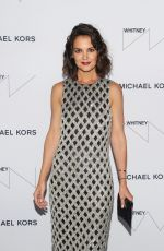KATIE HOLMES at Whitney Museum