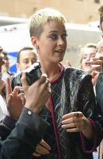KATY PERRY Arrives at Z100 Studios in New York 05/23/2017
