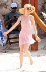 KATY PERRY in Swimsuit at a Beach in Cabo San Lucas 05/11/2-17