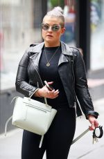 KELLY OSBOURNE Walks Her Dog Out in New York 05/30/2017