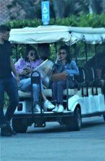 KENDALL JENNER and KOURTNEY KARDASHIAN at a Golf Cart in Santa Barbara 05/12/2017