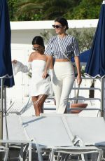 KENDALL JENNER and KOURTNEY KARDASHIAN Out in Antibes 05/23/2017