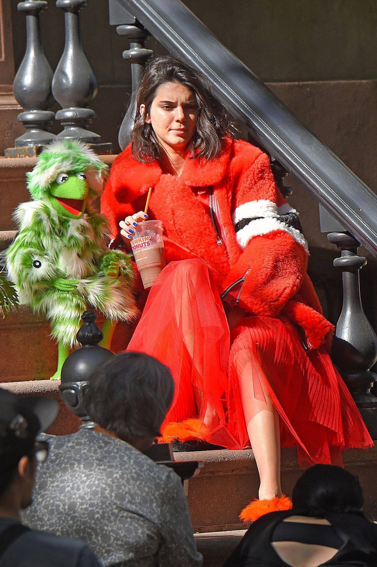 KENDALL JENNER at a Muppets-themed Photoshoot in New York 05/02/2017
