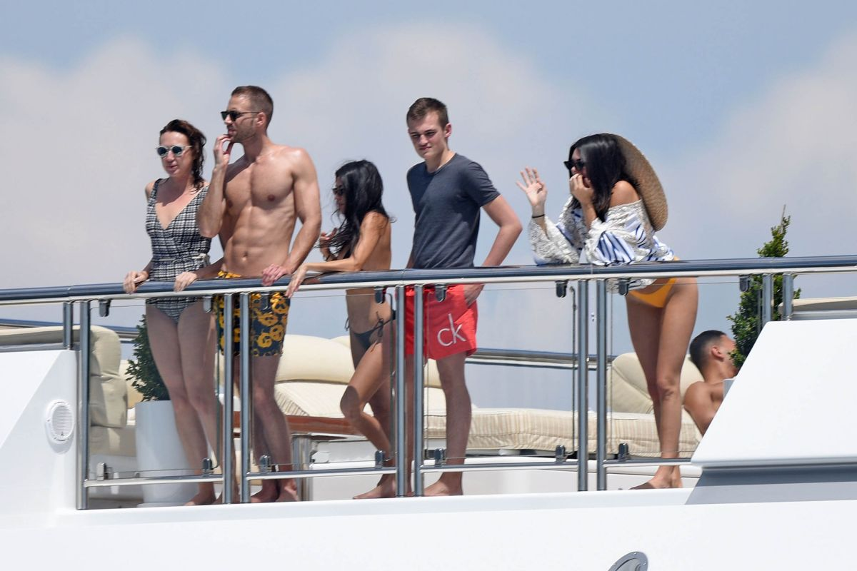KENDALL JENNER in Bikini with Friends at a Yacht in Cannes 05/23/2017