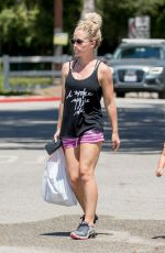 KENDRA WILKINSON in Shorts Out in Los Angeles 04/30/2017