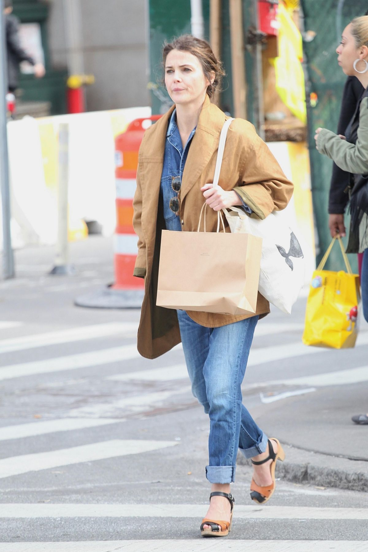 KERI RUSSELL Out Shopping in New York 05/12/2017