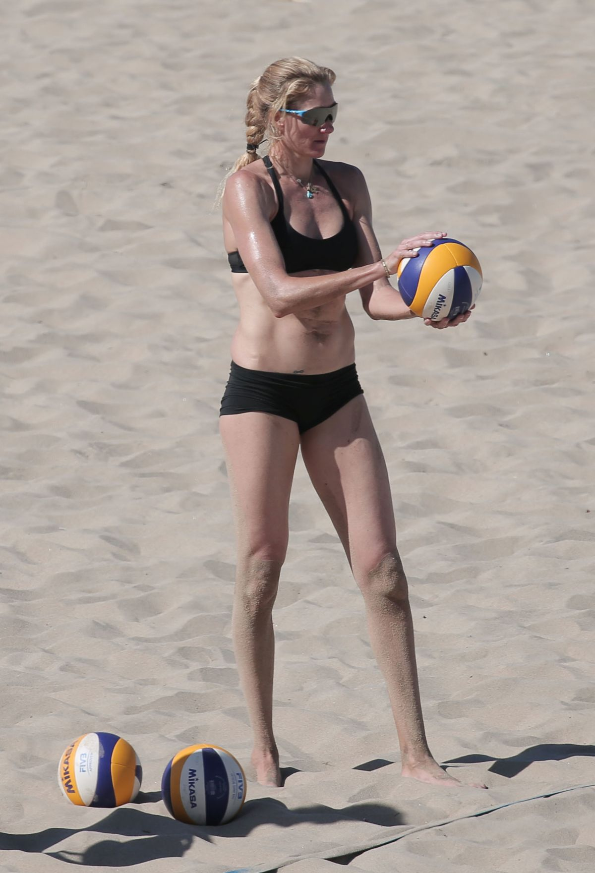 KERRI WALSH JENNINGS in Bikini on the Beach in Los Angeles 05/22/2017