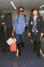 KERRY WASHINGTON at LAX Airport in Los Angeles 04/30/2017