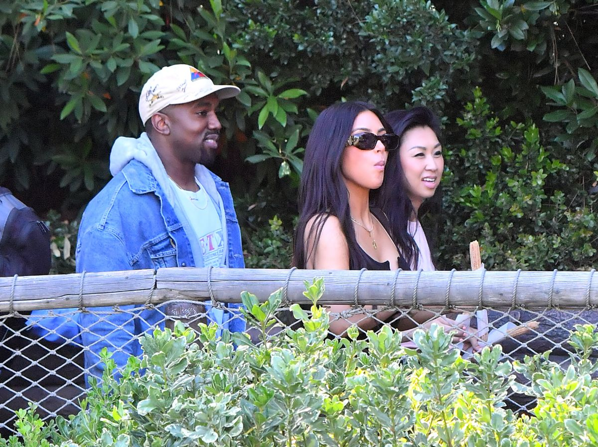 KIM KARDASHIAN and Kanye West at Disnayland in Anaheim 05/23/2017