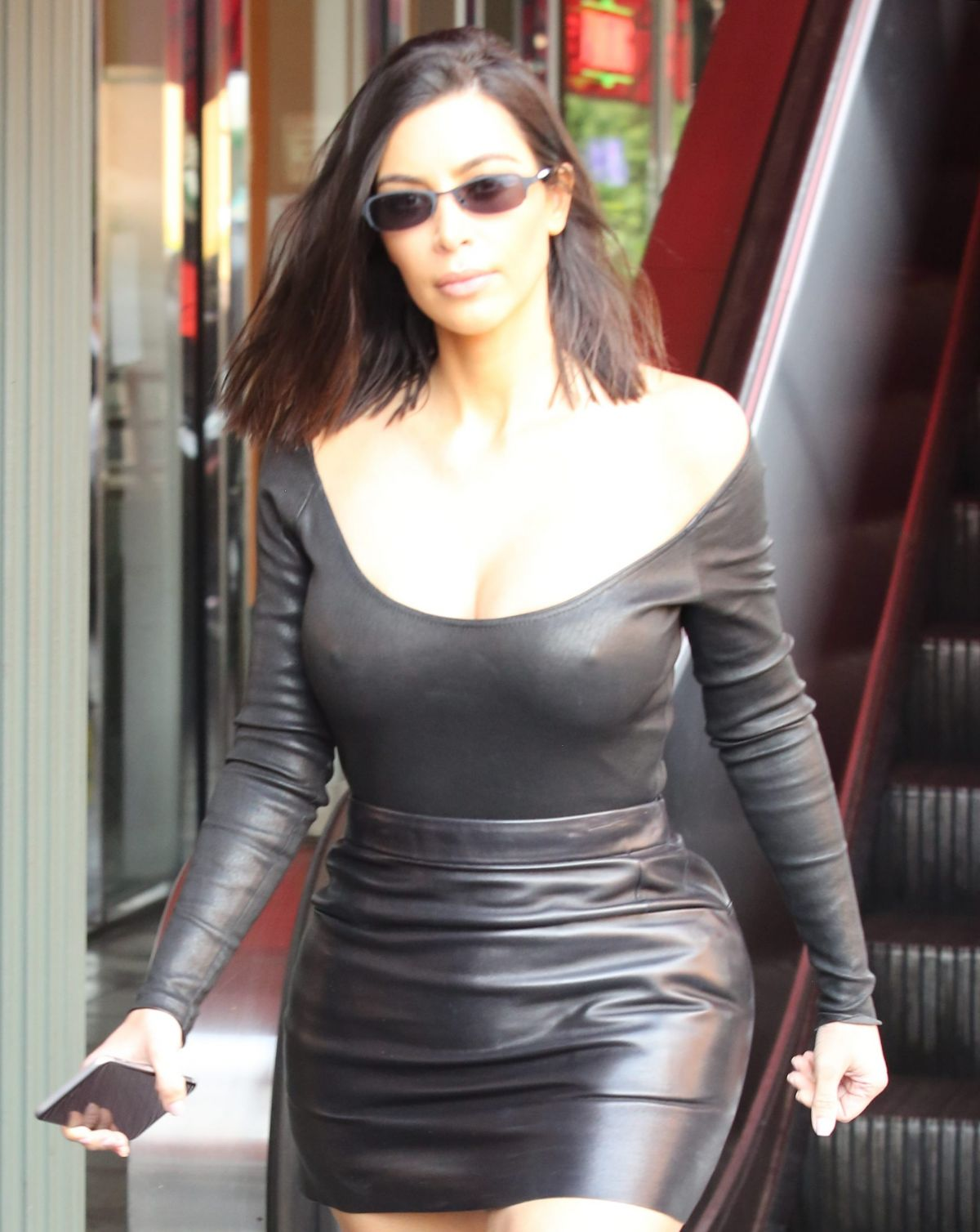 KIM KARDASHIAN Out for Lunch at Chin Chin in Studio City 05/08/2017