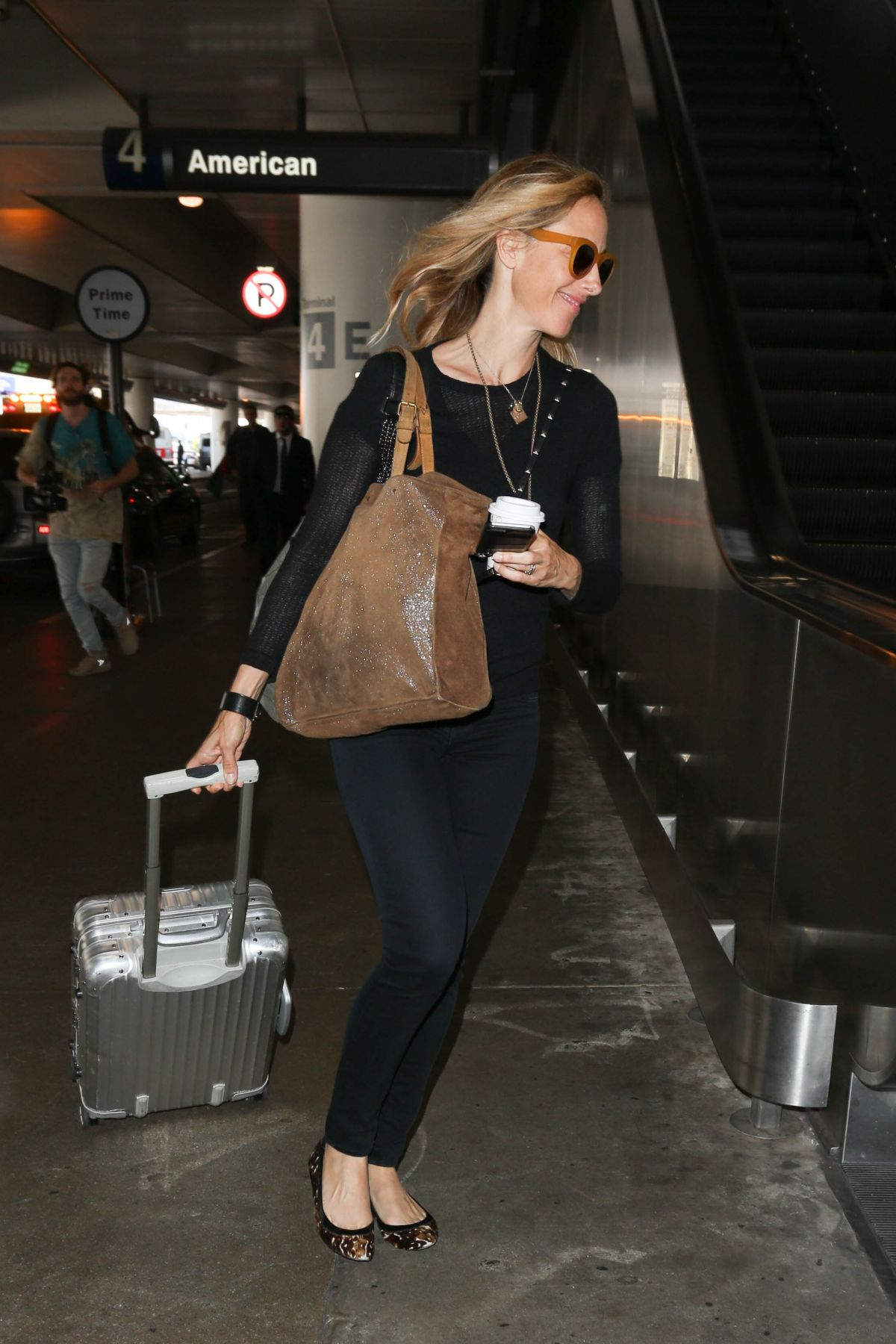 KIM RAVER at Los Angeles International Airport 05/03/2017