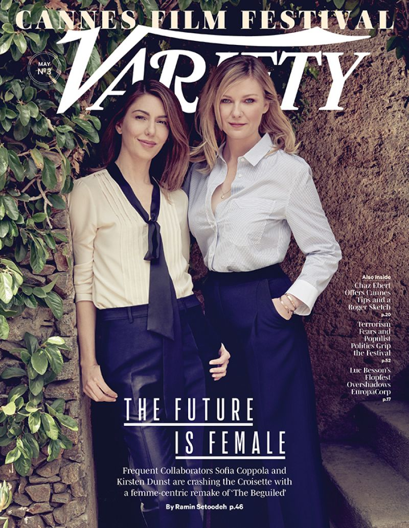 KIRSTEN DUNST and SOFIA COPPOLA in Variety Magazine, May 2017