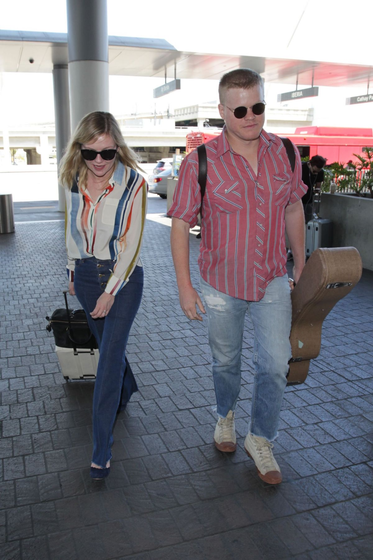 KIRTSEN DUNST at LAX Airport in Los Angeles 05/21/2017