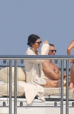 KOURTNEY KARDASHIAN and KENDALL JENNER in Bikinis on a Yacht in Antibes 05/25/2017