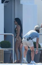 KOURTNEY KARDASHIAN in Swimsuit at a Yacht in Cannes 05/24/2017