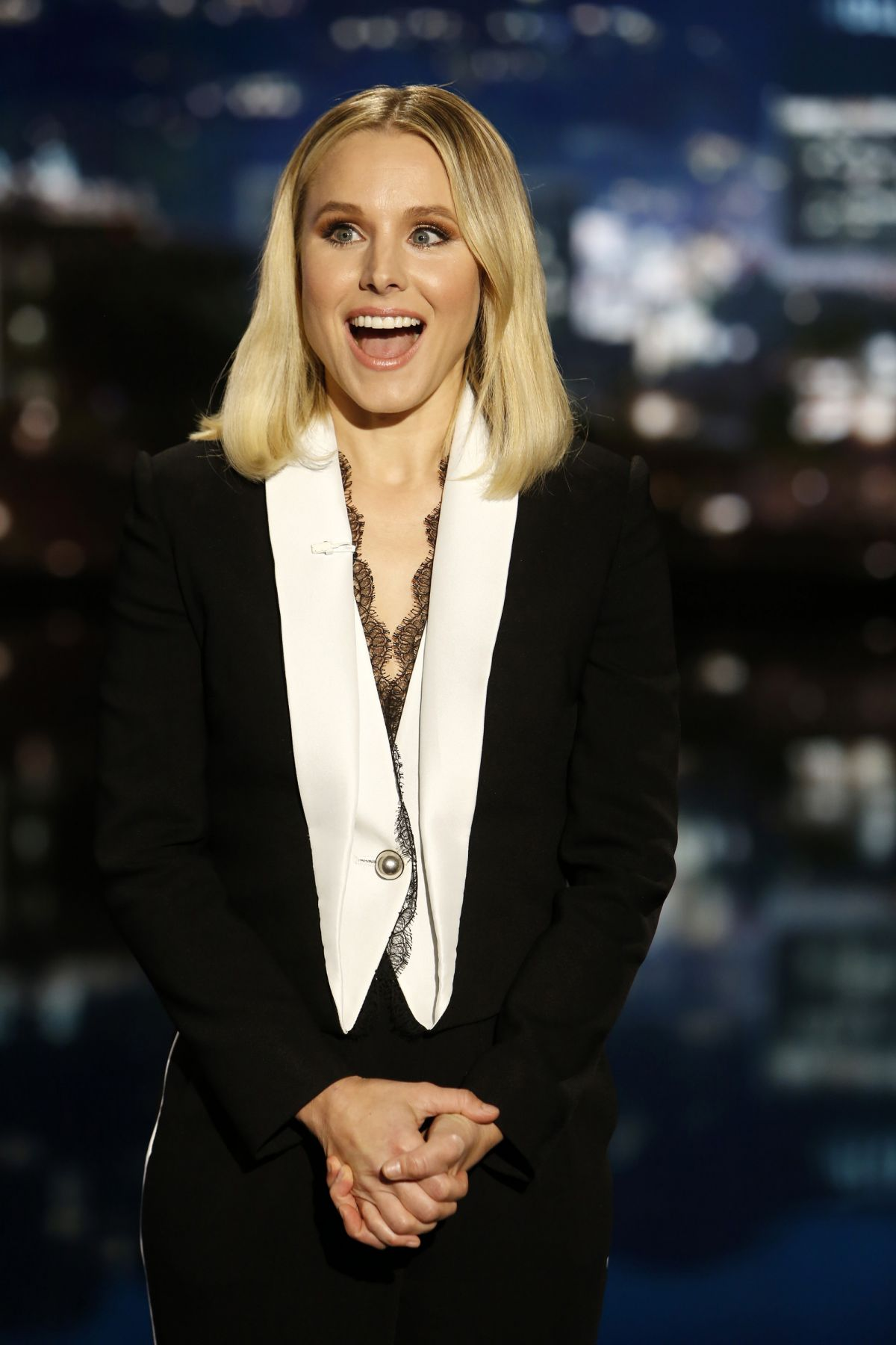 KRISTEN BELL at Jimmy Kimmel Live in Hollywood 05/04/2017