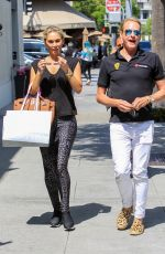 KYM JOHNSON Arrives at Il Pastaio in Beverly Hills 05/16/2017