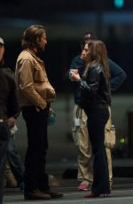 LADY GAGA and Bradley Cooper on the Set of Star Is Born in Los Angeles 05/06/2017