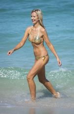 LADY VICTORIA HERVEY in Bikini on the Beach in Miami 05/08/2017