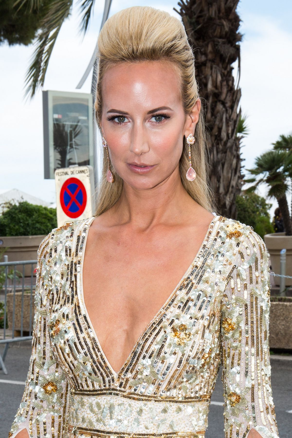 LADY VICTORIA HERVEY Out at Croisette in Cannes 05/22/2017