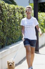 LADY VICTORIA HERVEY Out with Her Dog in Antibes 05/27/2017