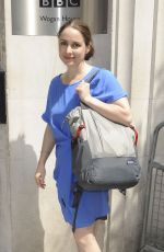 LAURA FRASER Arrives at BBC Radio 2 Studio in London 05/27/2017